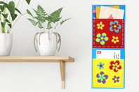 Porte-courriers fleuris - Set de 6 - Range-courriers et autres - 10doigts.fr