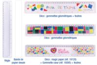 Règle à personaliser - Plastique Transparent - 10doigts.fr