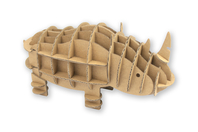 Rhinocéros carton à assembler - Maquettes en carton - 10doigts.fr