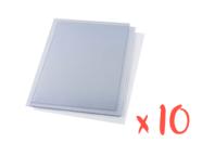 Plastique rhodoïd transparent - 10 feuilles - Feuilles en plastique - 10doigts.fr
