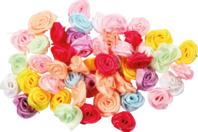 Roses en satin - Set de 50 - Fleurs - 10doigts.fr