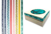Rubans tissu adhésifs, motifs assortis - 8 bandes - Rubans, cordons - 10doigts.fr