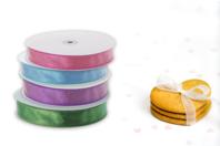 Rubans transparents Organza - Couleurs au choix - Rubans et ficelles - 10doigts.fr