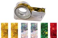 Rubans adhésifs - 6 rouleaux holographiques + dévidoir - Adhésifs - 10doigts.fr