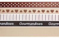Rubans en camaïeu brun - Set de 5 - Rubans et ficelles - 10doigts.fr