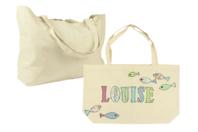 Grand sac à soufflet en coton écru - Supports textile - 10doigts.fr