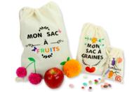 Sacs réutilisables en coton - Support textile à customiser - 10doigts.fr
