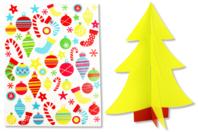 Sapin 3D à décorer avec des gommettes - Gommettes de fêtes - 10doigts.fr