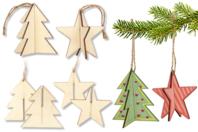 Sapin 3D ou étoile 3D à suspendre - Noël - 10doigts.fr