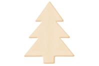 Sapin en bois naturel - Motifs brut - 10doigts.fr