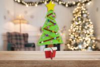 Kit sapin de Noël en bois à décorer - Kits et Activités de Noël - 10doigts.fr