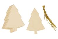 Sapins en bois à décorer - Lot de 6 - Noël - 10doigts.fr