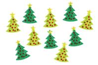 Sapins en feutrine - 20 stickers - Gommettes et stickers Noël - 10doigts.fr