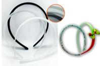 Serre-tête plat en plastique - couleur au choix - Bijoux de cheveux - 10doigts.fr