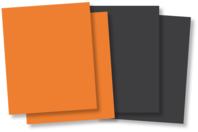 Plaques de caoutchouc souple orange ou noir - Lot de 10 - Halloween - 10doigts.fr