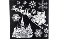 Stickers repositionnables pailletés de Noël, pour fenêtres - Décoration des vitres pour Noël - 10doigts.fr