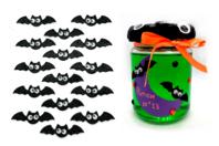 Stickers chauve-souris yeux mobiles - 15 pièces - Halloween - 10doigts.fr