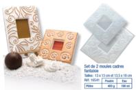Set de 2 moules cadres fantaisie - Moules - 10doigts.fr