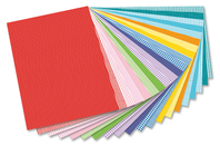 Cartes fortes coloris et motifs basiques assortis - Set de 20 - Papiers grammage épais - 10doigts.fr