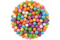 Petites perles rondes brillantes - Set de 200 - Perles acrylique - 10doigts.fr