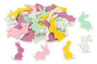 Stickers lapins en feutrine - Set de 24 - Embellissements de Pâques - 10doigts.fr