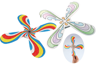 Boomerangs Hélice - Set de 3 ou 12 pcs - Support pré-dessiné - 10doigts.fr