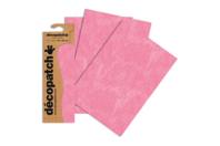 Papier Décopatch rose - 3 feuilles  N°667 - Papiers Décopatch - 10doigts.fr