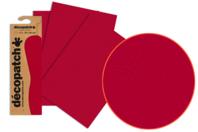 Papier Décopatch rouge - 3 feuilles N°724 - Papiers Décopatch - 10doigts.fr
