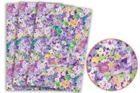 Papier Décopatch fleurs violettes - 3 feuilles N°828 - Papiers Décopatch - 10doigts.fr