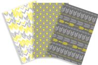Papiers à encoller motifs géométriques - 3 feuilles - Papiers à vernis-coller - 10doigts.fr
