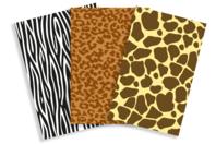 Papiers à encoller pelage animaux - 3 feuilles - Papiers à vernis-coller - 10doigts.fr