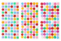 Boutons adhésifs formes assorties - Set de 300 - Boutons - 10doigts.fr