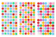 Boutons adhésifs formes assorties - 300 pièces - Boutons - 10doigts.fr