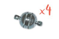 Fermoirs magnétiques ronds Argent - Lot de 4 - Fermoirs - 10doigts.fr