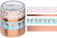 Masking tape rosé - 4 rouleaux motifs métallisés - Rubans adhésifs et Masking tape - 10doigts.fr