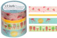 Masking tape - 4 rouleaux motifs Tropical - Rubans adhésifs et Masking tape - 10doigts.fr