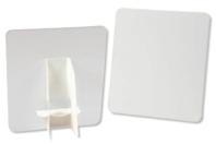 Chevalet et carte en carton blanc - Lot de 5 - Plaques et panneaux - 10doigts.fr