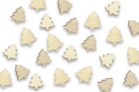 Sapins en bois - Lot de 50 - Motifs brut - 10doigts.fr