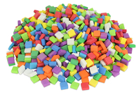 Mosaïques colorées en mousse - 500 pièces - Mosaïques en caoutchouc mousse - 10doigts.fr