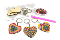 Kit Porte-clefs Diamants - Lot de 6 - Kits bijoux - 10doigts.fr