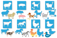Pochoirs ANIMAUX 3 en 1 - Set de 8 Modèles - Pochoirs Animaux - 10doigts.fr