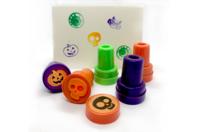 Tampons Halloween colorés - 9 motifs assortis - Halloween - 10doigts.fr