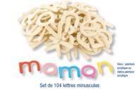 Lettres et chiffres en bois naturel - Motifs brut - 10doigts.fr