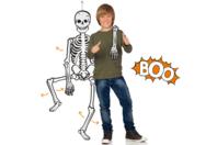 Squelette géant phosphorescent et articulé - Halloween - 10doigts.fr