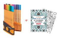 Feutres Stabilo Point 88 + Cahier coloriage OFFERT - Feutres Fins - 10doigts.fr