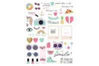 Stickers Licorne et été  - 86 pièces - Gommettes fantaisie - 10doigts.fr