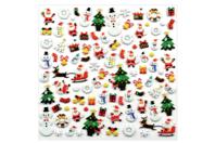 Stickers Noël 3D - 95 stickers - Gommettes Noël - 10doigts.fr