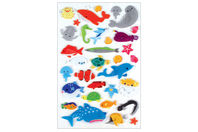 Stickers animaux marins 3D - 33 stickers - Stickers Fantaisies - 10doigts.fr