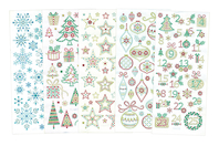 Stickers cristal Noël - Set de 160 stickers - Stickers strass, cabochons - 10doigts.fr