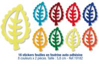Stickers feuilles en feutrine auto-adhésive - Feutrine - 10doigts.fr